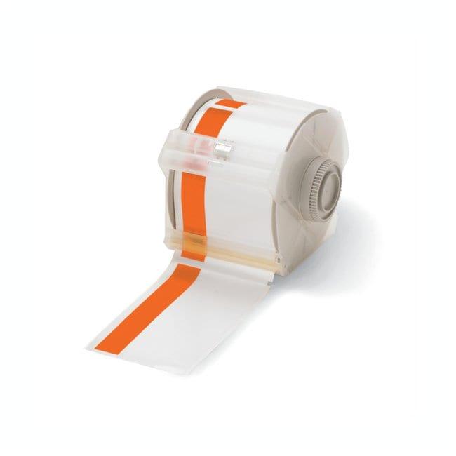 Brady GlobalMark Industrial Label Maker Tapes Orange/White; Size: 2.25