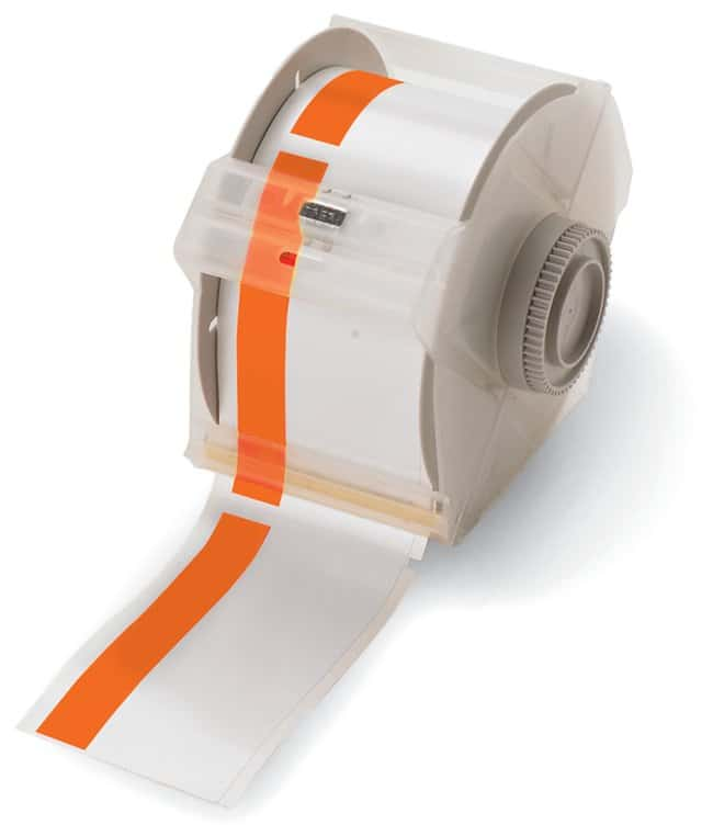 Brady GlobalMark Industrial Label Maker Tapes Orange/White; Size: 3 in.