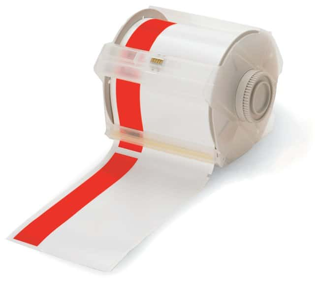 Brady GlobalMark Industrial Label Maker Tapes Red/White; Size: 4 in. with
