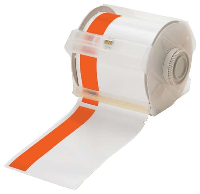 Brady GlobalMark Industrial Label Maker Tapes Orange/White; Size: 4 in.