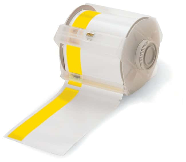 Brady GlobalMark Industrial Label Maker Tapes White/Yellow; Size: 4 in.