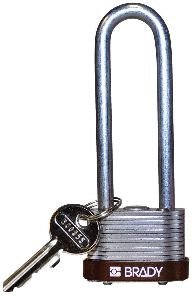 BradyKey Retaining Keyed Different Steel Padlocks with 3 inch Shackle Locks:Facility