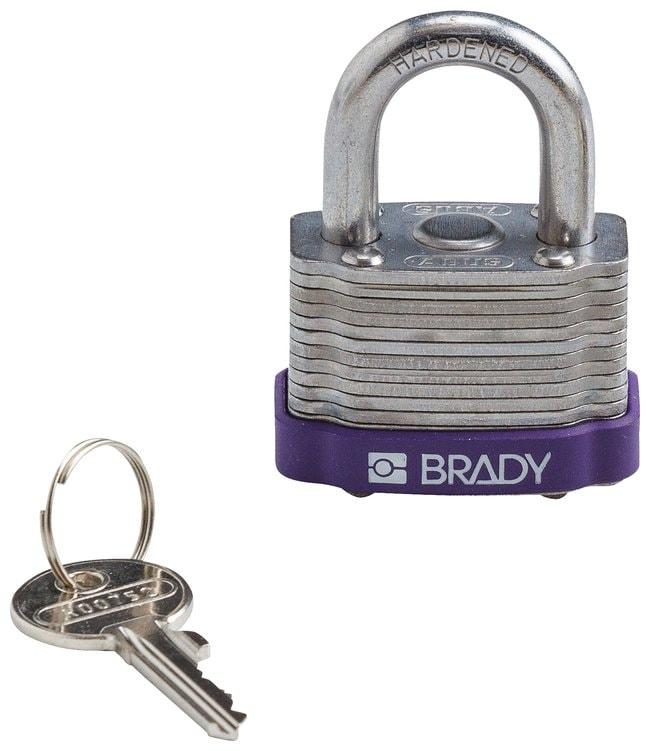 BradyKey Retaining Keyed Different Steel Padlocks with 0.75 inch Shackle
