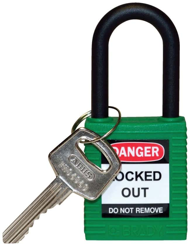 BradyKeyed-Different Nylon Safety Padlocks with 1.5 in. Shackle Locks:Facility