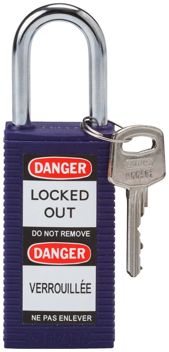 Brady Long Body Keyed-Different Safety Padlocks with 1.5 in. Shackle Locks