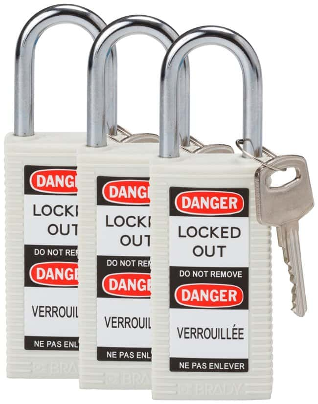 Brady Long Body Keyed Alike Safety Padlocks with 1.5 in. Shackle Locks
