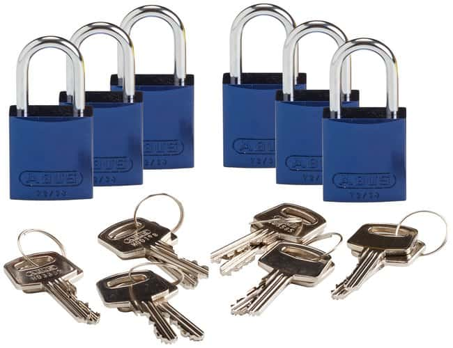 Brady Compact Keyed-Different 1 in. Shackle Aluminum Padlocks:Gloves, Glasses