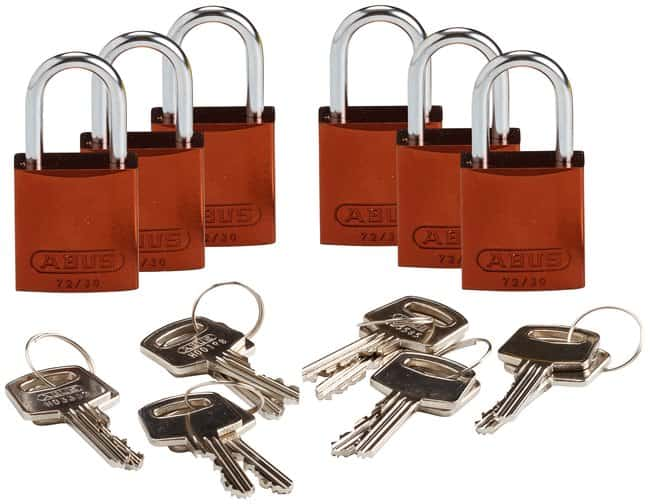 Brady Compact Keyed Alike 1 in. Shackle Aluminum Padlocks:Gloves, Glasses