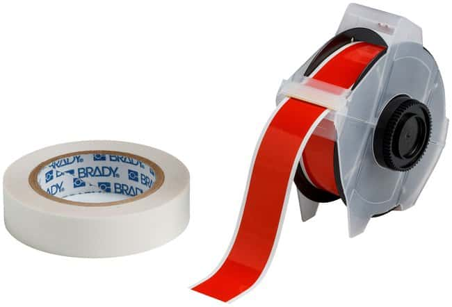 Brady™ ToughStripe™ Labels with Overlaminate Red tape and clear overlam; Printer compatibility: GlobalMark; 1.25 in. x 100 ft. Brady™ ToughStripe™ Labels with Overlaminate