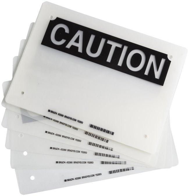 Brady Laminating Pouches, Header: CAUTION Header: CAUTION; Size: W x H: