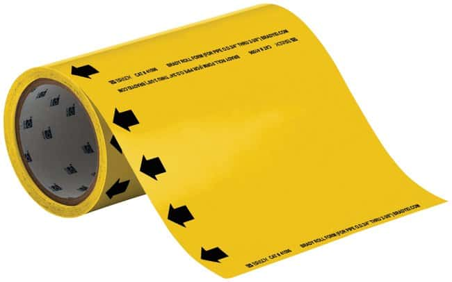 Brady Roll Form Pipe Markers, Legend: (Blank) Yellow:Gloves, Glasses and