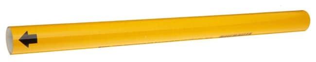 Brady BradySnap-On Pipe Markers, Legend: (BLANK) Style: B2L; Black on yellow:Gloves,