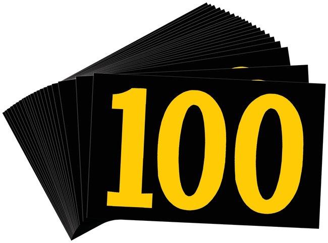 Brady Preprinted KVA Markers, Legend: 100 KVA Marker, Legend: 100:Gloves,