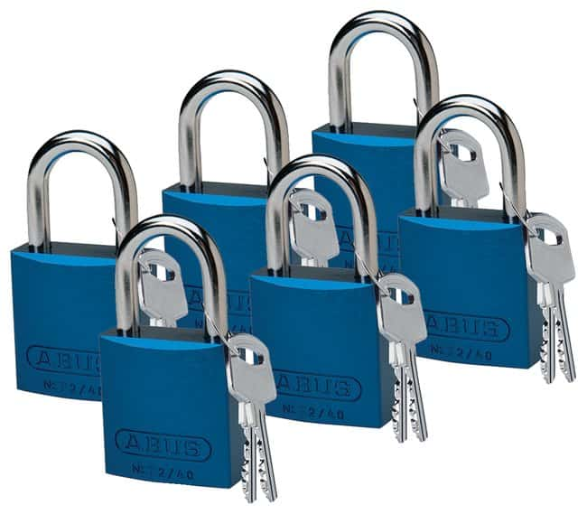 Brady Keyed-Different Aluminum Padlocks with 1 in. Chrome-Plated Steel