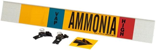 Brady Ammonia (IIAR) Pipe Markers, Legend: VAP/Ammonia/HIGH:Gloves, Glasses