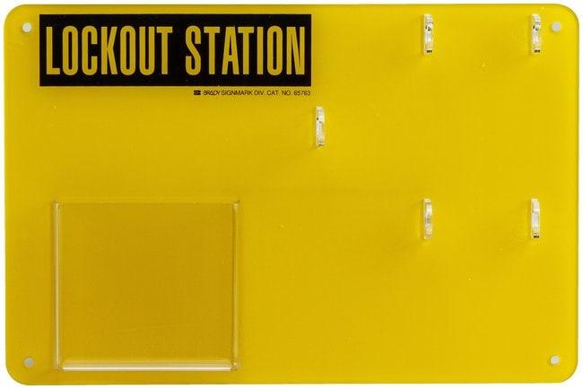 Brady Four lock Lockout Station Size: 20.3 x 30.4cm (8 x 12 in.):Gloves,