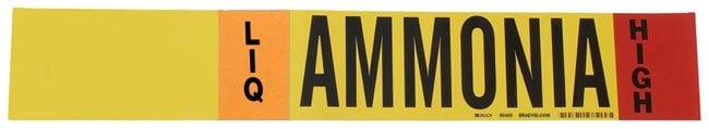 Brady Ammonia (IIAR) Pipe Markers, Legend: LIQ/HIGH/Ammonia, B-946 Self-Sticking