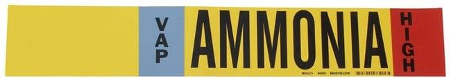 Brady Ammonia (IIAR) Pipe Markers, Legend: VAP/HIGH/Ammonia, B-946 Self-Sticking