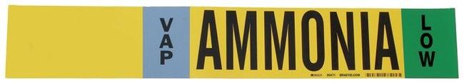 Brady Ammonia (IIAR) Pipe Markers, Legend: VAP/LOW/Ammonia, B-946 Self-Sticking