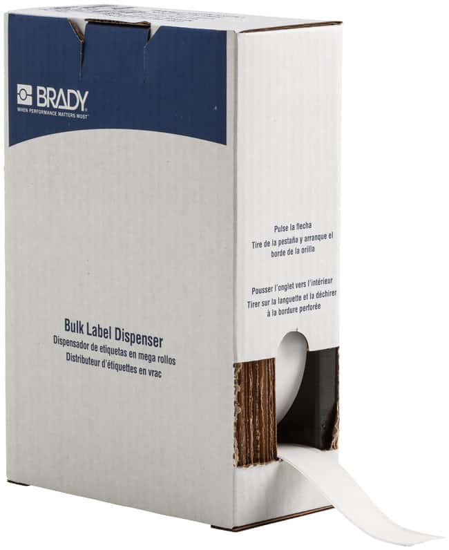 Brady ToughWash Label Material for BMP71 Printer White; Size: W x H: 25.4mm