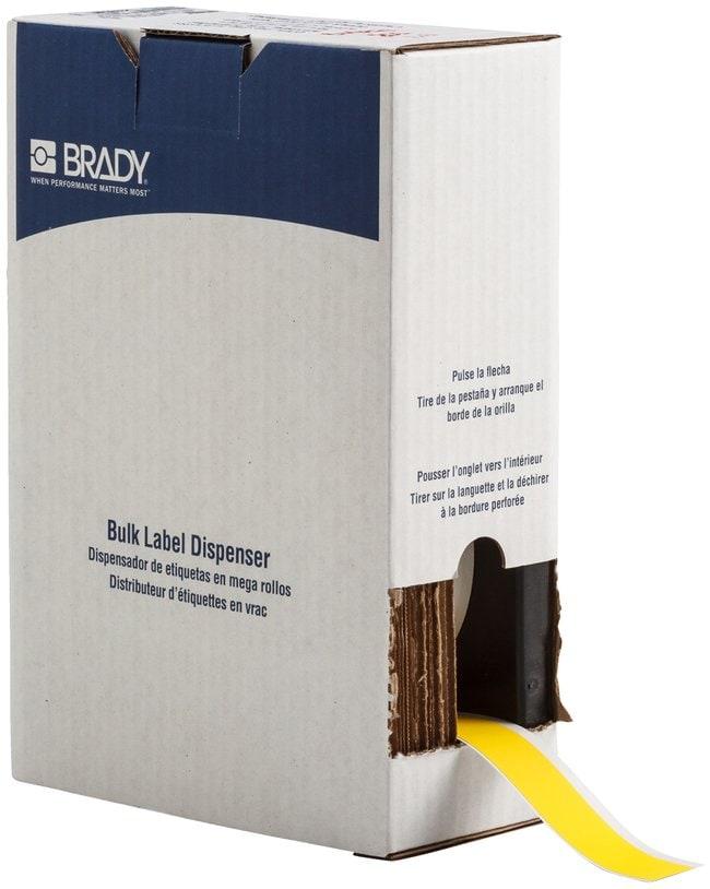 Brady ToughWash Label Material for BMP71 Printer Yellow; Size: W x H: 25.4mm