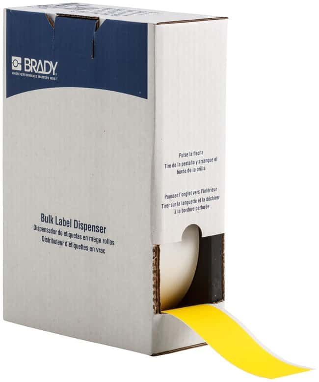 Brady ToughWash Label Material for BMP71 Printer Yellow; Size: W x H: 50.8mm