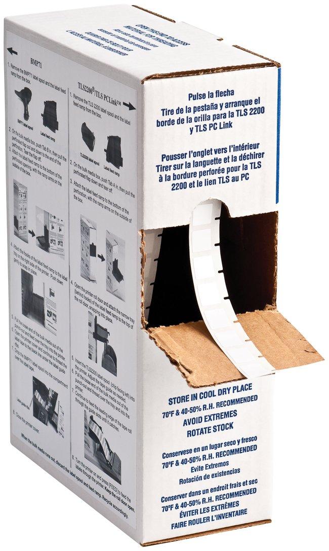 Brady™WorkHorse™ B-423 Permanent Polyester Labels W x H: 12.7 x 12.7mm (0.5 x 0.5 in.) Brady™WorkHorse™ B-423 Permanent Polyester Labels