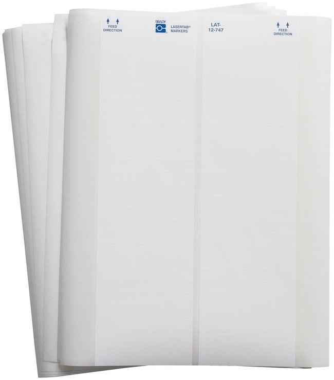 Brady LASERTAB Laser Printable Labels, B-747 Polyester:Gloves, Glasses