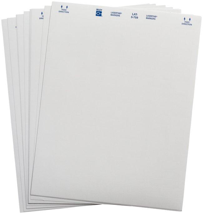 Brady LASERTAB Laser Printable Labels, B-759 Paper:Gloves, Glasses and