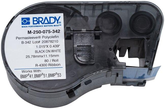Brady™PermaSleeve™ Heat-Shrink Polyolefin BMP51/BMP53/BMP41 Label Maker Cartridge W x H: 0.439 x 0.75 in. Brady™PermaSleeve™ Heat-Shrink Polyolefin BMP51/BMP53/BMP41 Label Maker Cartridge