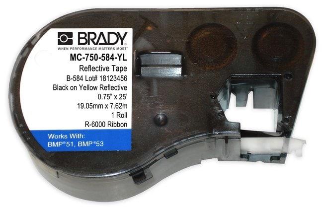 Brady BMP51/BMP53/BMP41 Label Maker Cartridge, Reflective Tape (B-584):Gloves,