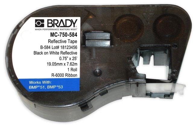 Brady BMP51/BMP53/BMP41 Label Maker Cartridge, Reflective Tape (B-584)