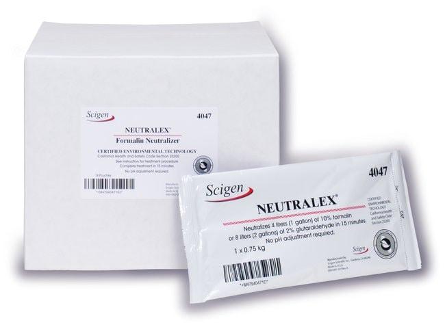 Scigen Neutralex Certified Formalin Neutralizer 16 Pouches:Gloves, Glasses