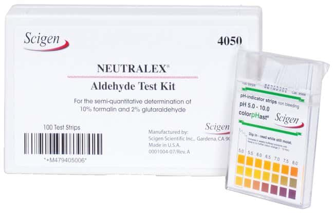 Scigen Neutralex Formalin Test Kit 1 Kit:Gloves, Glasses and Safety