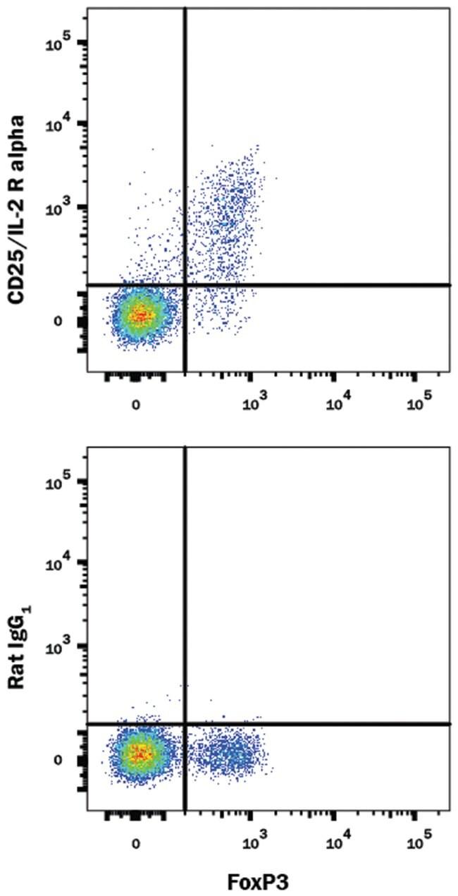 CD25/IL-2R alpha Rat anti-Mouse, Alexa Fluor 594, Clone: PC61.5.3, R&D