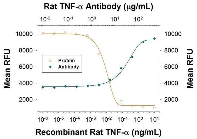 TNF-alpha Mouse anti-Rat, Clone: 45418R, R::