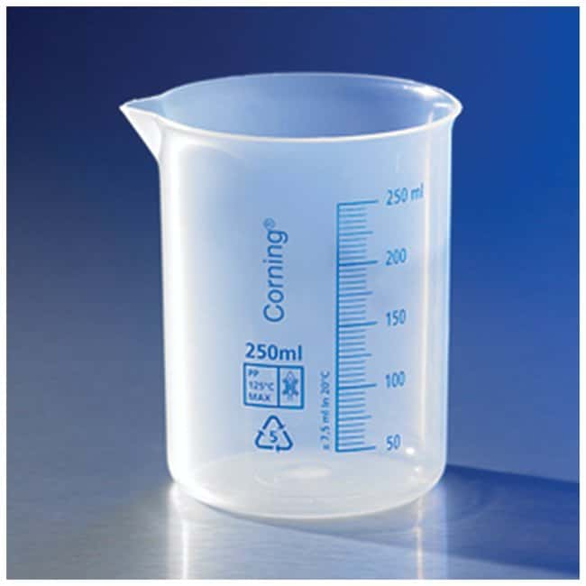 Corning™ Reusable Polypropylene Low-Form Beakers: Beakers | 50mL, 250mL, 500mL | Fisher Scientific Beakers, Bottles, Cylinders and Glassware