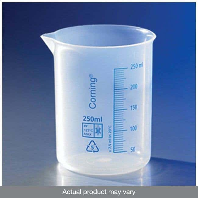 Corning™ Reusable Polypropylene Low-Form Beakers, Graduated