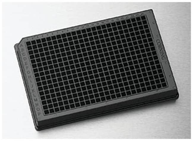 Corning™Microplacas de poliestireno sólidas de 384 pocillos y de color blanco o negro NBS; Negro Ver productos