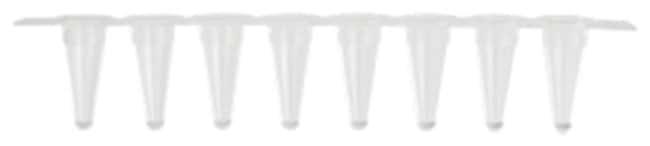 Axygen™ Low Profile 8-Strip PCR Tubes White thin wall; Real time strip caps Axygen™ Low Profile 8-Strip PCR Tubes
