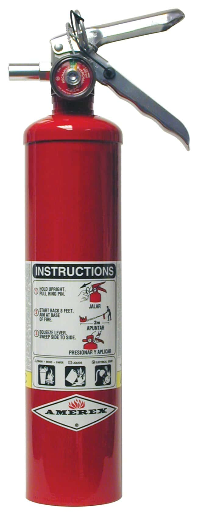 Amerex ABC Dry Chemical Fire Extinguishers Aluminum; 2.5 lb.:First Responder