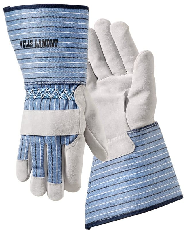Wells Lamont White Mule Cotton-Backed Leather Gloves X-Large:Gloves, Glasses