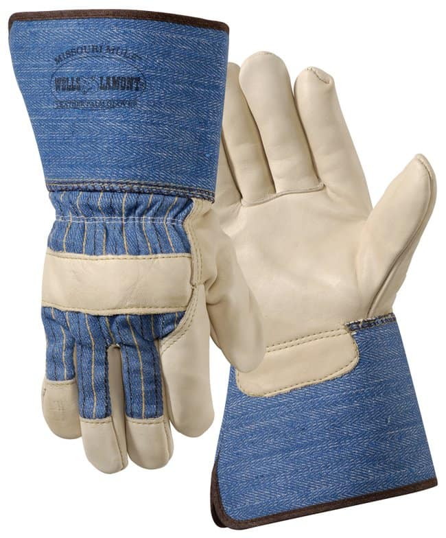 Wells LamontPremium Grain Cowhide Leather Palm Work Gloves:Personal Protective