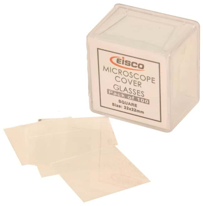 Eisco™Microscope Cover Glasses size 22x22mm