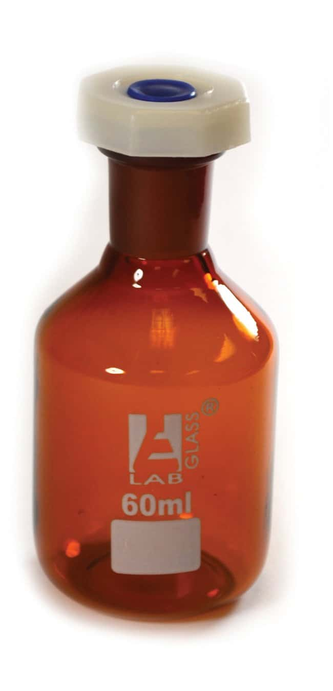 Eisco  Amber Reagent Bottle , Narrow Mouth with Acid Proof Polypropylene stopper, socket size 14/23