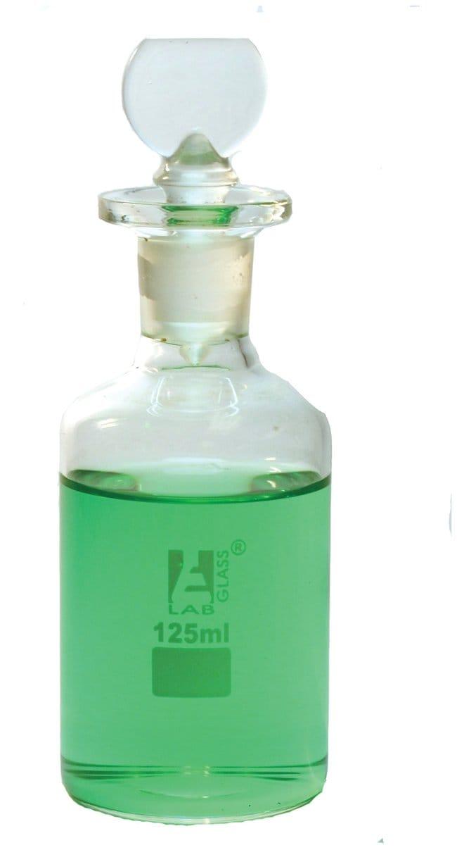 Eisco™125ml B.O.D. borosilicate glass bottle with stopper