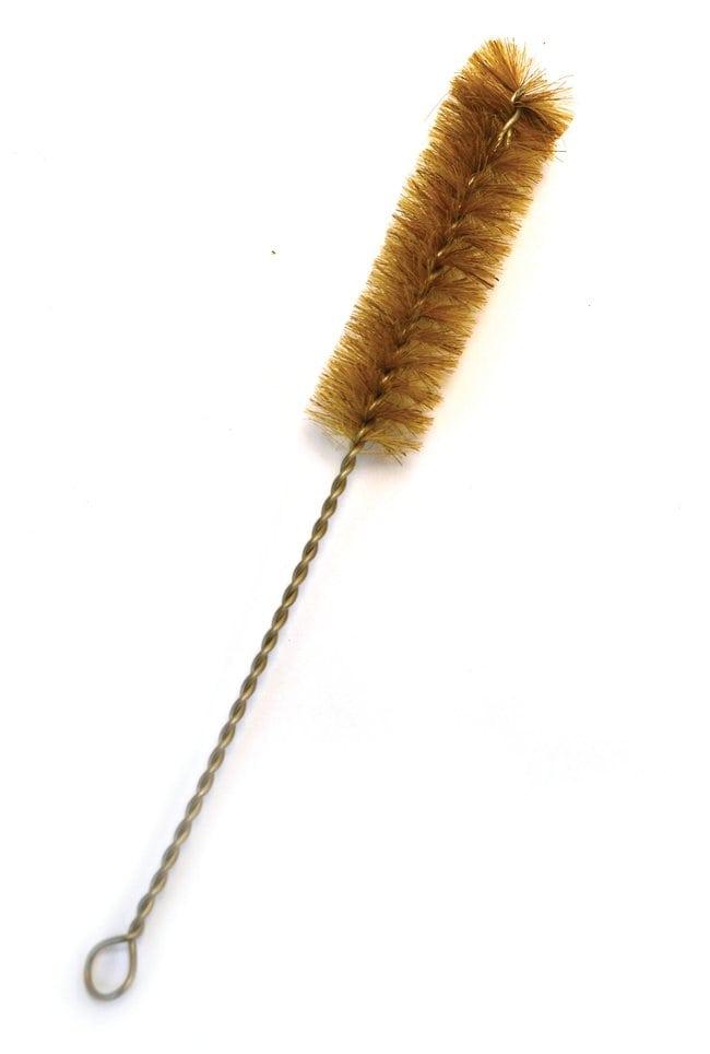 Eisco Tan Nylon Test Tube Brush, 9 in. Total Length, 3.5 in. Brush Length,