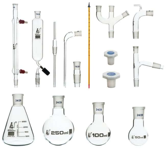 Eisco Advanced Organic Chemistry Distillation Glassware Set, 17 Piece,