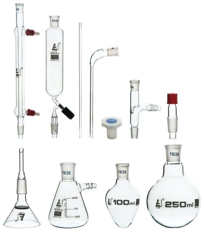 Eisco Organic Chemistry and Distillation 9 Piece Set  :Teaching Supplies