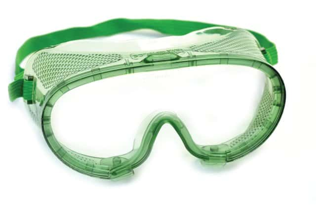 Eisco Green Safety Goggles  Green adjustable elastic strap:Teaching Supplies